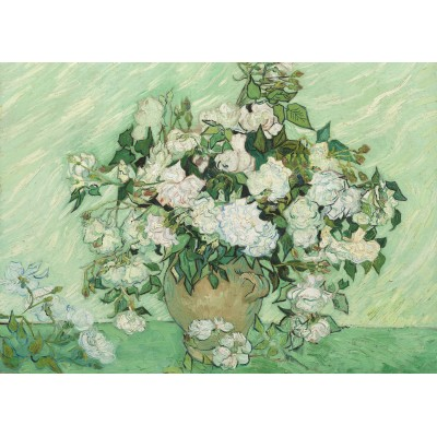 Grafika-Kids-01009 Pièces magnétiques - Vincent Van Gogh - Roses, 1890