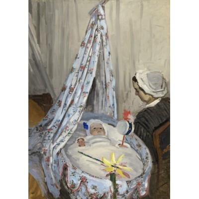 Grafika-Kids-01014 Pièces magnétiques - Claude Monet - The Cradle - Camille with the Artist's Son Jean, 1867
