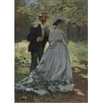 Grafika-Kids-01022 Pièces magnétiques - Claude Monet - Bazille et Camille, 1865