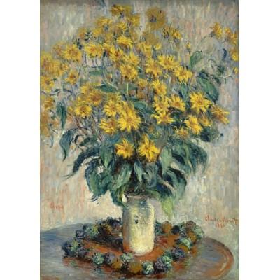 Grafika-Kids-01026 Pièces magnétiques - Claude Monet - Jérusalem Fleurs d'artichaut, 1880