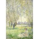 Grafika-Kids-01029 Claude Monet - Femme assise sous les Saules, 1880