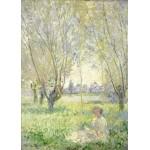 Grafika-Kids-01030 Pièces magnétiques - Claude Monet - Femme assise sous les Saules, 1880