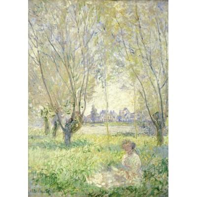 Grafika-Kids-01031 Claude Monet - Femme assise sous les Saules, 1880