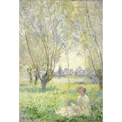 Grafika-Kids-01032 Pièces XXL - Claude Monet - Femme assise sous les Saules, 1880