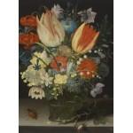 Grafika-Kids-01079 Pièces magnétiques - Peter Binoit: Nature Morte avec des Tulipes, 1623