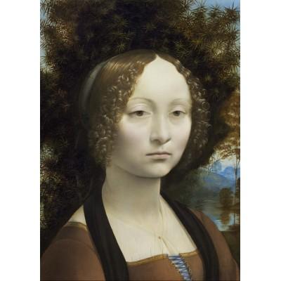 Grafika-Kids-01091 Pièces magnétiques - Leonard de Vinci: Ginevra de' Benci, 1474-1476