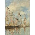 Grafika-Kids-01094 Eugène Boudin - Bassin de Yacht à Trouville, Deauville, 1895/1896