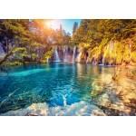 Grafika-Kids-01189 Pièces magnétiques - Parc National des Lacs de Plitvice, Croatie