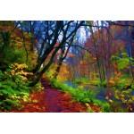 Grafika-Kids-01203 Pièces XXL - Forêt d'Automne Stylisée