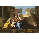 Grafika-Kids-01252 Nicolas Poussin : La Sainte Famille sur les Marches, 1648