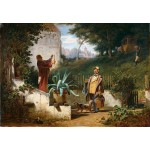 Grafika-Kids-01258 Carl Spitzweg - Jugendfreunde, 1855