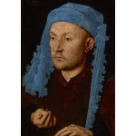 Grafika-Kids-01261 Jan van Eyck - Portrait of a Man with a Blue Chaperon, 1430-33