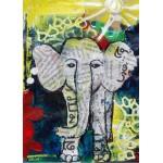 Grafika-Kids-01271 Pièces magnétiques - Eléphanteau Thaïlandais