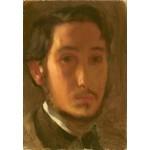 Grafika-Kids-01278 Edgar Degas : Autoportrait avec Col Blanc, 1857