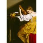 Grafika-Kids-01283 Orazio Gentileschi: La Joueuse de Luth, 1612/1620