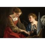 Grafika-Kids-01284 Orazio Gentileschi et Giovanni Lanfranco : Sainte Cecilia et un Ange, 1617/1618
