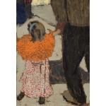 Grafika-Kids-01294 Edouard Vuillard : Enfant portant un foulard rouge, 1891