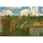 Grafika-Kids-01295 Edouard Vuillard : Paysage d'Ile de France, 1894