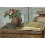 Grafika-Kids-01296 Edouard Vuillard : La palette de l'Artiste et un Vase avec des Roses, 1898