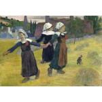 Grafika-Kids-01301 Gauguin Paul : Danse Bretonne des Filles à Pont Aven, 1888