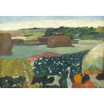 Grafika-Kids-01302 Paul Gauguin : Meules de Foin en Bretagne, 1890