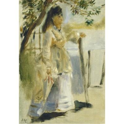 Grafika-Kids-01312 Auguste Renoir : Femme à la Barrière, 1866