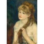Grafika-Kids-01327 Auguste Renoir : Jeune Femme Tressant ses Cheveux, 1876