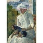 Grafika-Kids-01338 Mary Cassatt : Jeune Fille à la Fenêtre, 1883-1884