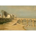 Grafika-Kids-01347 Jean-Baptiste-Camille Corot : Pont sur la Saône à Mâcon, 1834