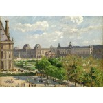 Grafika-Kids-01368 Camille Pissarro : Place du Carrousel, Paris, 1900