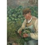 Grafika-Kids-01371 Camille Pissarro : Le Jardinier - Vieux Paysan avec Chou, 1883-1895