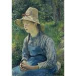 Grafika-Kids-01374 Camille Pissarro : Jeune Paysanne avec un Chapeau de Paille, 1881