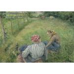 Grafika-Kids-01377 Camille Pissarro : Jeunes Paysannes se Reposant dans les Champs Près de Pontoise, 1882