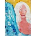 Grafika-Kids-01413 Pièces magnétiques - La Jeune Femme aux Cheveux Blancs