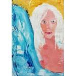 Grafika-Kids-01415 Pièces XXL - La Jeune Femme aux Cheveux Blancs