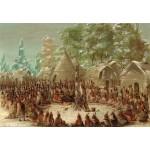 Grafika-Kids-01496 George Catlin : Fête de La Salle dans le village de l'Illinois. 2 janvier 1680, 1847-1848