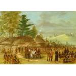 Grafika-Kids-01499 George Catlin : Chef des Indiens de Taensa recevant La Salle le 20 mars 1682, 1847-1848