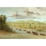 Grafika-Kids-01501 George Catlin : L'expedition de La Salle En entrant dans le Mississippi à Canoës le 6 février 1682