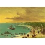 Grafika-Kids-01502 George Catlin : Première navigation du voilier Griffin sur le Lac Erie le 7 août 1679, 1847-1848
