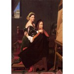 Grafika-Kids-01509 Jean-Auguste-Dominique Ingres : Raphaël et la Fornarina, 1814