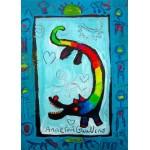 Grafika-Kids-01737 Pièces magnétiques - Anne Poiré & Patrick Guallino - Loup Heureux
