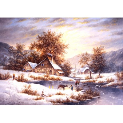 Grafika-Kids-01857 Pièces magnétiques - Dennis Lewan - Amber Sky Of Winter