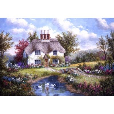 Grafika-Kids-01864 Pièces XXL - Dennis Lewan - Swan Creek Cottage
