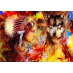 Grafika-Kids-01999 La Femme Indienne et le Loup