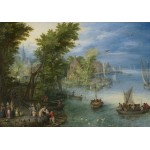 Grafika-Kids-02043 Jan Brueghel - River Landscape, 1607