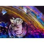 Grafika-Kids-02055 Le Chat et les Papillons