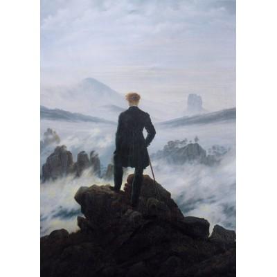 Grafika-Kids-02115 Caspar David Friedrich - Der Wanderer über dem Nebelmeer, 1818