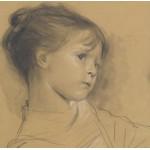 Grafika-00004 Gustav Klimt : Annerl - 1885