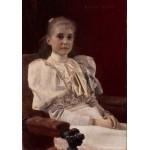 Grafika-00024 Gustav Klimt : Jeune fille assise - 1894