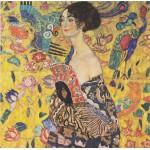 Grafika-00031 Gustav Klimt : Dame à l'éventail, 1917-1918